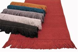 "100% Cotton Hand Woven 2pc Bath Rug Set 21""x34""/17""x24"" JBR2"