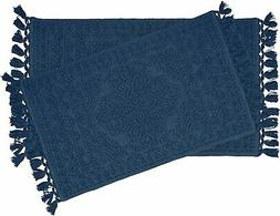 """French Connection 17""""x24"""" Bath Rugs - Navy"""
