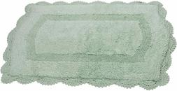 Maple Home Abby 100% Cotton Hand made Bath rugs Color-Still