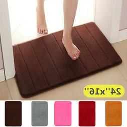 Absorbent Memory Foam Floor Rugs Carpet Bath Bathroom Bedroo