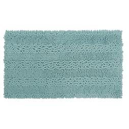 "Laura Ashley Astor Striped Plush Chenille 20"" X 34"" Bath Mat"