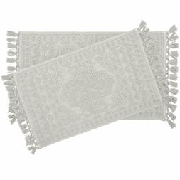 French Connection Bath Rugs, 17 In. X 24 In./20 In. X 34 In,