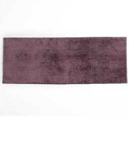 Bathroom Floor Rug Runner Length Nonskid Soft Polyester Plum