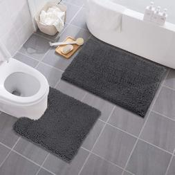 MAYSHINE Bathroom Rug Toilet Sets and Shaggy Non Slip Machin