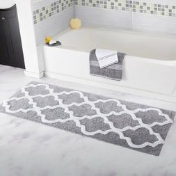 Bathroom Rugs 10 Colors Trellis Pattern Runners Plush All Co