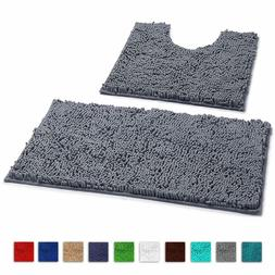 Bathroom Rugs By LuxUrux extra-Soft Plush Non-Slip Thick Sho