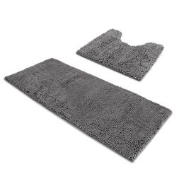 AOACreations Bathroom Rugs Ultra Soft Chenille 2 Piece Conto