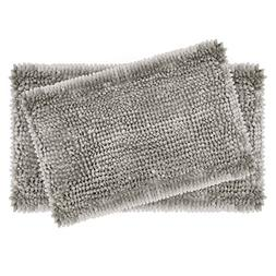 "Laura Ashley 2-Piece Butter Chenille 20"" x 34"" Bath Mat Set,"
