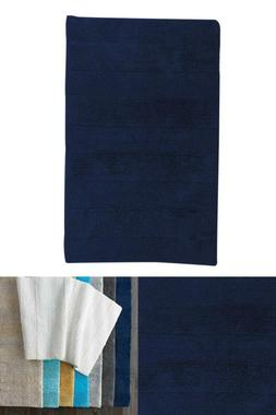 Company Cotton Navy 17 In. X 24 In. Reversible Bath Rug