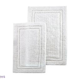 Cotton 2-Piece Bath Rug Set White