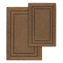 Cotton 2-Piece Bath Rug Set Chocolate