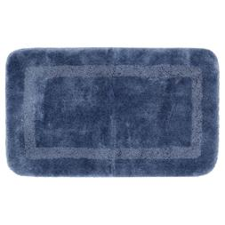 Facet French Blue 20 In. X 34 In. Nylon Bath Rug