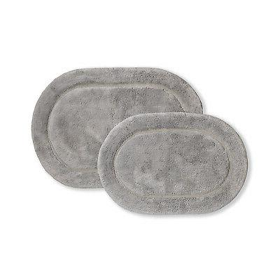 oval 100 percent combed cotton bath rugs