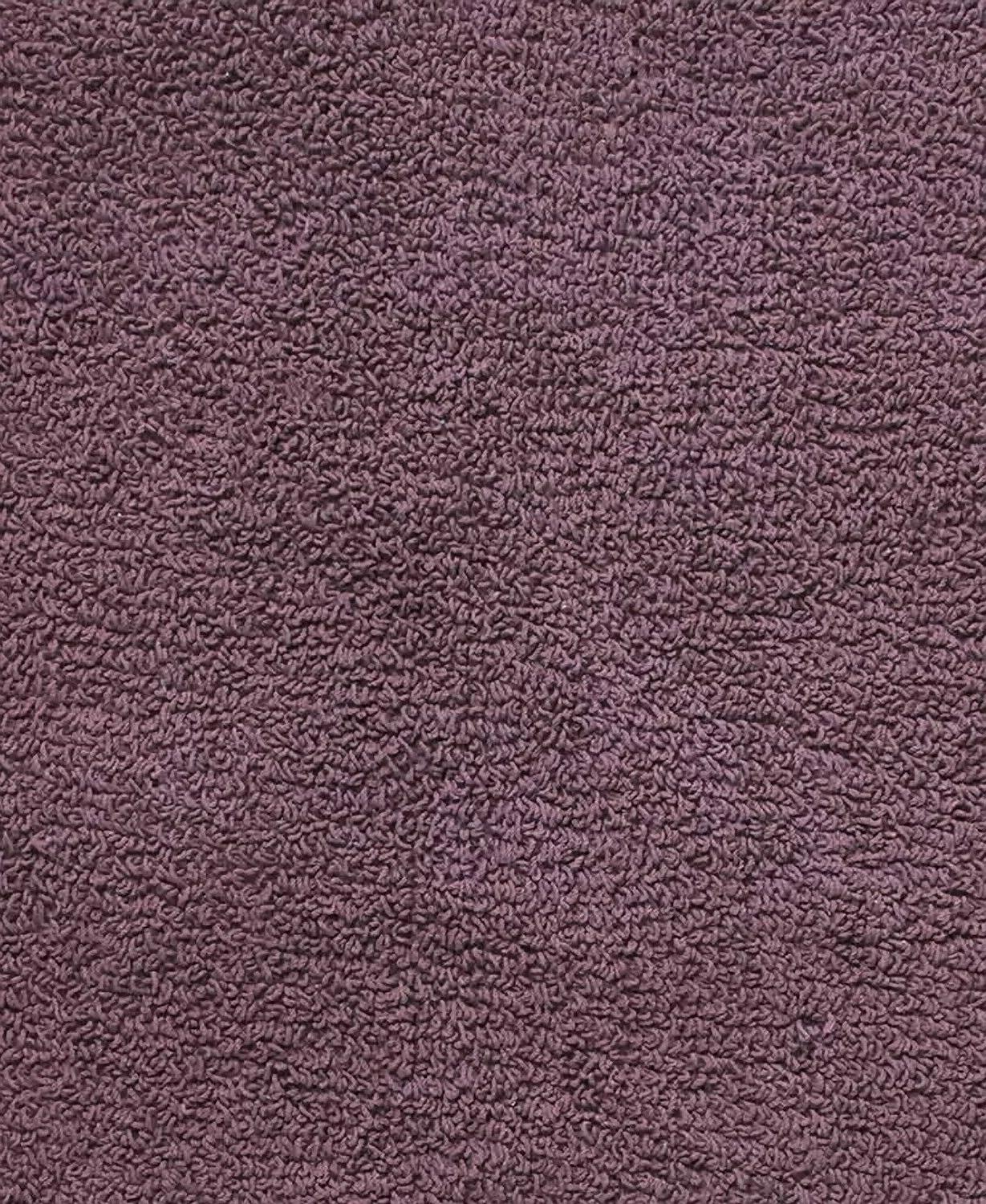 plum purple reversible cotton bath rug 1