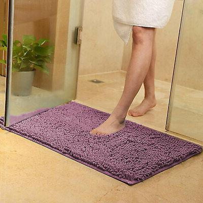 Soft Microfiber Shaggy Slip Absorbent Mat Bathroom