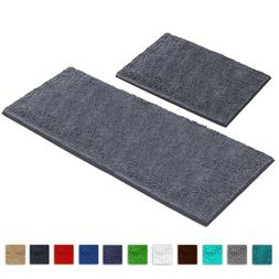 LuxUrux Bathroom Rug Runner Set 27x47 +16x24'' Soft Absorben