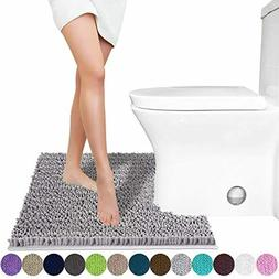 Luxury Shaggy Toilet Bath Mat U-Shaped Contour Rugs for Bath