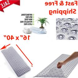 Non Slip Bath Tub Mat Anti Slip Extra Long Large Rubber Show