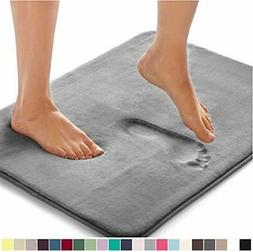Gorilla Grip Original Thick Memory Foam Bath Rug, 30x20, 30""