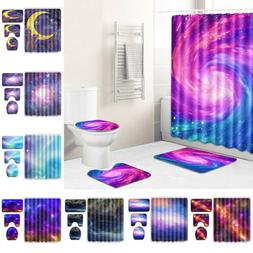 Outer Space Decor Shower Curtain Abstract Nebula Galaxy Psyc