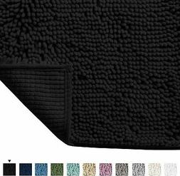 Plush Luxury Chenille Bath Rug  Extra Soft and Absorbent Sha