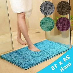 Soft Microfiber Shaggy Non Slip Absorbent Bath Mat Bathroom