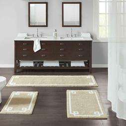 Tufted Bathroom Rugs 4 Colors w/ White Borders Thick Pile Pl
