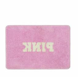 Victoria's Secret PINK White BATH MAT Plush & Cozy Graphic