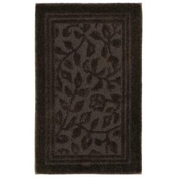 Wellington 30 In. X 50 In. Nylon Bath Rug In Chocolate
