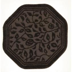 Wellington 6 Ft. X 6 Ft. Nylon Octagon Bath Rug In Chocolate
